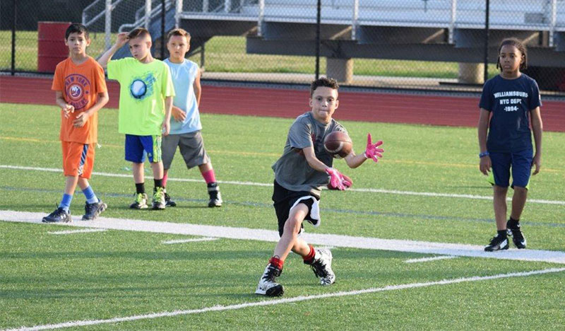 Football Camp Fun Photo