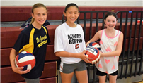Students 'Dig' Volleyball Camp Photo
